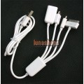 USB Male To Micro USB Male + Mini USB Male + Ipad Dock Hub Splitter Cable Adapter