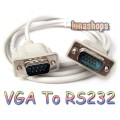 RS232 DB9 9 Pin Male to VGA Video 15 Pin D-SUB Converter Adapter Cable Lead