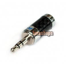 ACROLINK Rhodium CF-3.5L(R) 3.5mm Stereo Male Carbon Straight Adapter dia 7mm