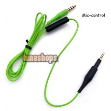 117cm cable with Control Talk Mic Remote for AKG K450 Q460 K480 Headphone
