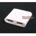 iPad Male To Micro + Mini USB Female 30 Pin Adapter Connector For iPhone