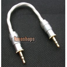 Straight 3.5mm DIY Male To Male Audio Silver Cable Adapter For Amplifier Decoder DAC