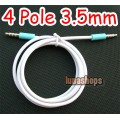 100cm 4 Pole 3.5mm Jack Male to Male Stereo Audio Cable Adapter For Iphone etc.