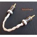 Hifi 3.5mm Pailiccs Male To Male Audio Belt Silver Cable Adapter For Amplifier DAC