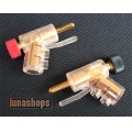 2pcs Pailiccs Pailic 008 Dia. 8mm gun shape Speaker audio Male Plug Adapter