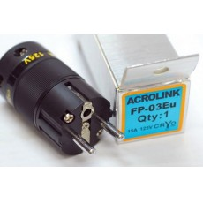 Acrolink refrigeration Series rhodium Plated FP-03Eu Speaker Cable Power Plug Adapter