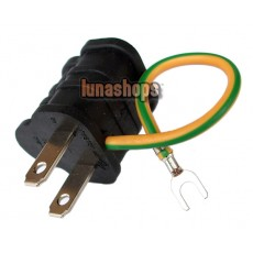 AC Power Outlet Plug Grounding Adapter 3 to 2 Prong (UL)