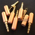 Gold 3.5mm Stereo 24k Gold Audio Plug soldering Adapter for  Sennheiser