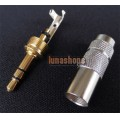 New style OEM Stereo plug 3.5mm P-3.5 G Male stereo 6mm tail dia. Adapter