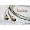 1m Copper Colour CC Whisper II XLR Audio Cable 1.6 Square Alloy