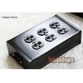 Copper Colour CC B6-HE 6 port Power Socket Strip Black 250V/15A
