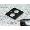 Copper Colour CC carbon fibre Power socket Panel