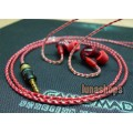 120cm Top-Rated Single crystal copper Handmade Cable For Shure SE535 SE425 UE900 Headset