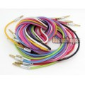 8 Color for choosing 3.5mm male to Male Audio Cable 100cm long Crystal Version JD8