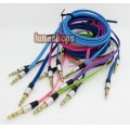 8 Color for choosing 3.5mm male to Male Audio Cable 100cm long Flat Version JD9