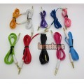 10 Color for choosing 3.5mm male to Male Audio Cable 100cm long Small Flat JD16