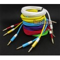 6 Color for choosing 3.5mm male to Male Audio Cable 150cm long Net Skin JD6