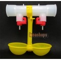 20pcs For Poultry Farm Chicken/ Duck Water Feeder Dual Nipples Waterer Drinkers