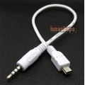 3.5mm 4 Pole Male to USB Mini 5 Pin Tranfer Data Cable Adapter For Car Audio