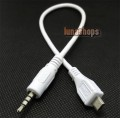 3.5mm Male 4 pole to Micro USB 5 Pin Male Tranfer Cable Adapter For Samsung S3 OTG