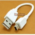 17cm USB A Male to Mini B 5pin Male USB 2.0 Cable Adapter