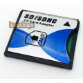 SD SDHC SDXC MMC to CF Type II Memory Card Converter Adapter, Push-Push SD 3.0