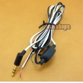 Black and White 3.5mm semifinished Neutral DIY Repair updated Cable for earphone Solder