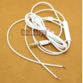 Repair diy Cable with Mic Volume Remote for Samsung Diy earphone Headset etc. White