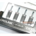 1pcs ACROLINK Acrolink CF-101R Top rated Carbon rhodium Plated Updated Banana Straight adapter