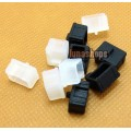 2pcs Silica Gel Dustproof dustfree dust prevention Plug Adapter For 1394 9pin Female port