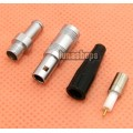 1pcs Male 1 Pins Connector Coaxial Adapter For Audio GPS Cable DIY headphone