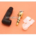 L Shape 90 Degree 3.5mm Plug Gold Plated solder Adapter