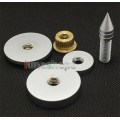 1set 3507 Foot Nail Adapter Stand Spike Protection + Pad for Turntable CD Amplifier Speaker
