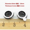 2pcs 10mm Speaker Unit For Earphone Headset Repair Upgrade DIY Custom