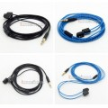 Super Soft OFC Black/Blue Skin Earphone Cable For Etymotic ER4B ER4PT ER4S ER6I ER4
