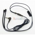 5N OFC Soft Skin Earphone Cable With Mic and Hook For Shure se535 Se846 Ultimate UE900