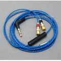 With Mic Remote Volume Cable For HiFiMan HE400 HE5 HE6 HE300 HE560 HE4 HE500 HE600 Headphone