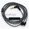 Black And White + Mic Remote Earphone Cable For Shure se215 se315 se425 se535 Se846
