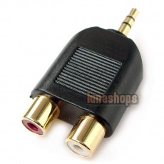 3.5mm Male to RCA Female Y Splitter Stereo Audio Adapter