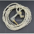 JYL With Earphone Hook Silver Foil Plated PU Skin Cable For ue18 11pro 10pro 7pro Custom In ear