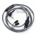 Black And White With Mic Remote Earphone Hook Audio Cable For Shure se215 se315 se425 se535 Se846