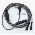 Black And White With Mic Remote Earphone Audio Cable For Sennheiser HD25 HD 25-1 HD25-1 II HD25-13 H...