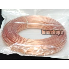 1m Outside Dia:6mm 49Pins*0.39mm Acrolink OCC Signal Hi-res Wire Cable For DIY Hifi 99.99999% Pure Copper