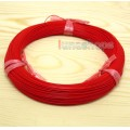 Red 100m 30AWG Pailic Silver Plated + 5n OCC Signal Hi-res Wire Cable 7/0.1mm2 Dia:0.65mm For DIY Hi...
