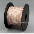 1m Clear 8 Cores PVC Extreme Soft Silver + OCC Mixed Signal Hi-res Earphone Headphone Cable Wire 0.0...
