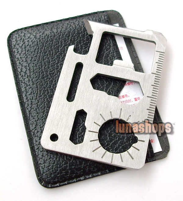 Slim version Stainless 11 in 1 Pocket Army Survival Multi Tool Card