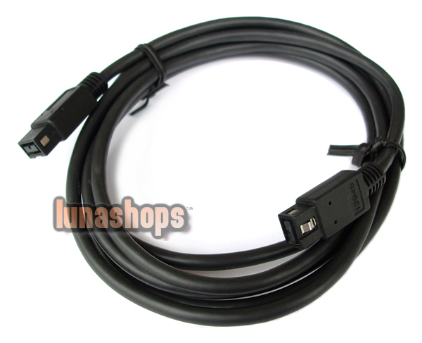Durable 9 Pin Male to 9 Pin Male Cable M/M IEEE 1394b Cable Firewire Cable