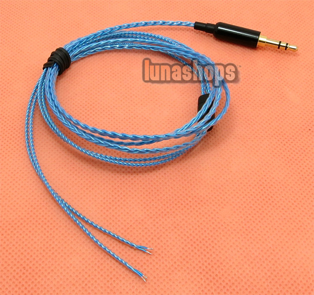 1.2m Handmade Cable For Shure se535 se846 Fitear earphone headset OFC 8N 12 color