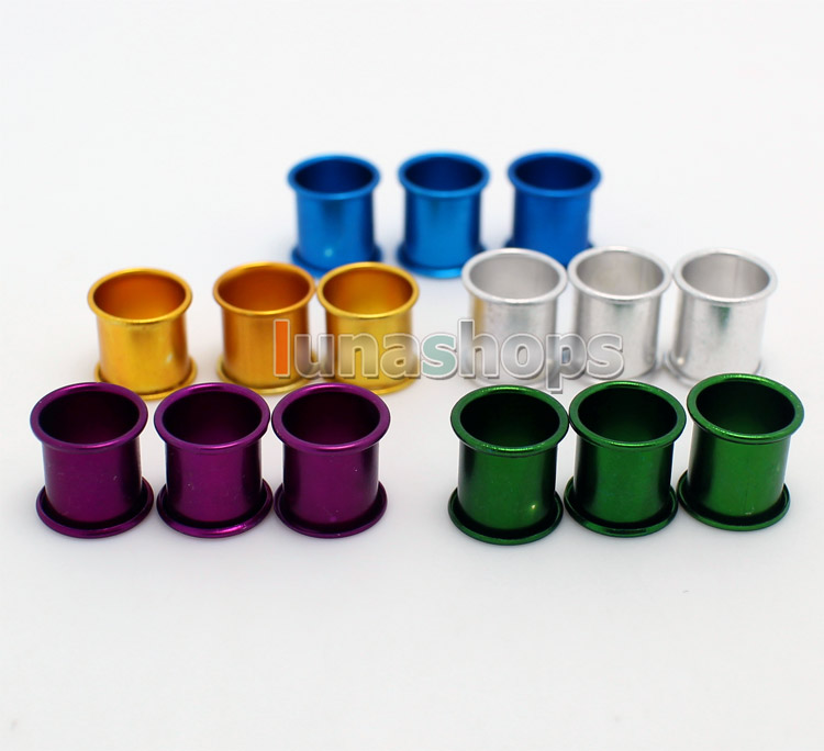 For 100PCS 8MM color aluminous bird dove pigeon Leg Rings 5 color
