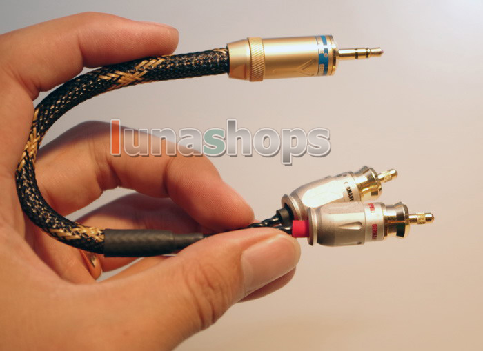Harmonic Tech Pro-9 Reference 3.5mm Male to 2 RCA Audio Audiophile OCC Y Splitter Cable
